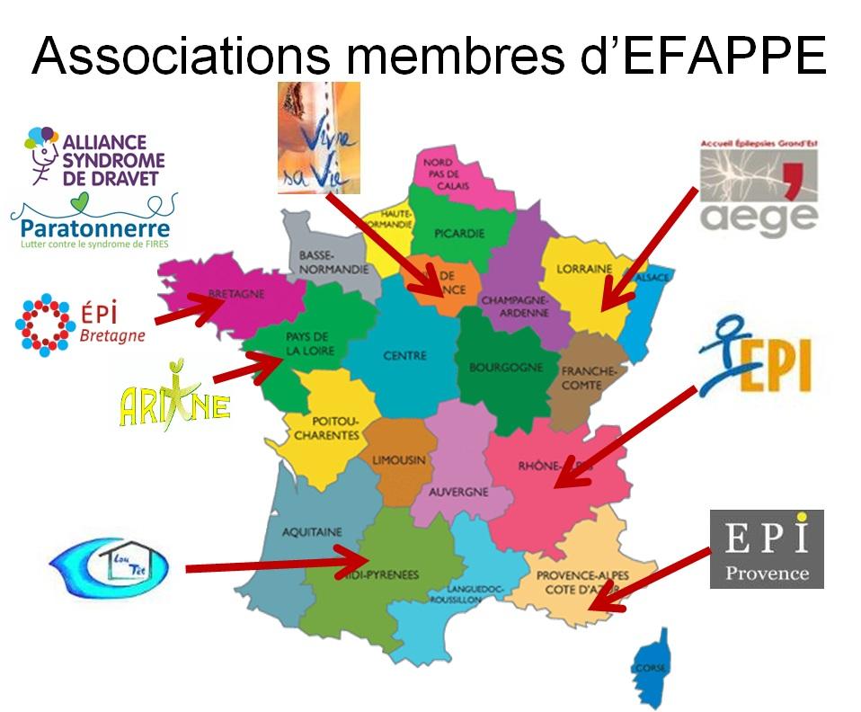 Carte des adhérents de la fédération au 2013/04/03