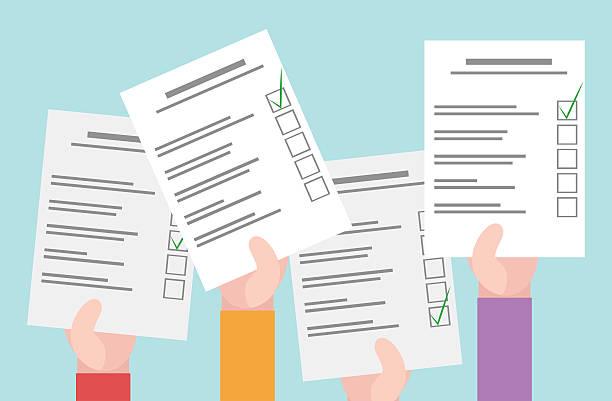 bulletins de réponse au sondage